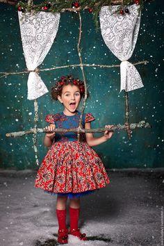 Купить Платье ЗИМНЯЯ ВИШНЯ - комбинированный, зимняя мода, зимняя вишня, Платье нарядное