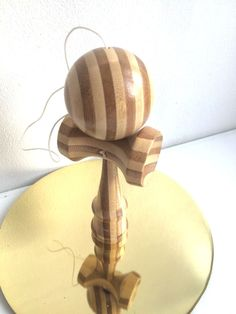 Kendama Classic Wooden Skill Toy Tribute Natural Bamboo #Tribute