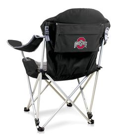 Loving this Ohio State Buckeyes Black Reclining Camp Chair on #zulily! #zulilyfinds