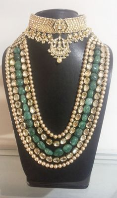 Looking for bridal necklace? Browse of latest bridal photos, lehenga & jewelry designs, decor ideas, etc. on WedMeGood Gallery. Bridal Necklace, Bridal Jewelry, Necklace Set, Pearl Necklace, Crystal Jewelry, Silver Jewelry, Resin Jewelry, Turquoise Jewelry, Silver Ring