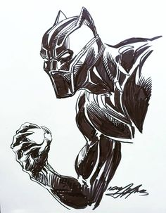 Black Panther Neal Adams convention sketch 2018.
