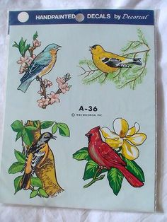 Vintage Song Bird decal A36 by Decoral 1980 by CarmelasCreations, $6.50