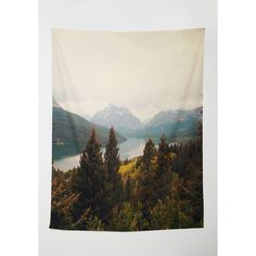 Rustic Peaks Your Interest Tapestry featuring polyvore, home, home decor, wall art, home accessory, multi, wall decor, mountain home decor, rustic wall art, tapestry wall art, tree home decor and rustic home accessories