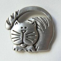 Cat pin #cats #jewelry