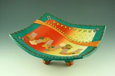 Polymer Clay Platter by Angie Wiggins