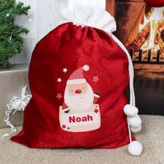 Our Pocket Santa Pom Pom Sack is a great way to present their Christmas treats from Santa.