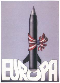 "USSR Cold War propaganda poster ""Europa"""