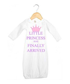 Look at this #zulilyfind! White & Pink 'Little Princess' Gown - Infant by Love you a Latte #zulilyfinds