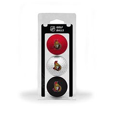 NHL Ottawa Senators 3Ball TriColor Golf Ball Set *** More info could be found at the image url.