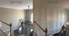 Want to add some character to your home?  Check out this recent foyer transformation!