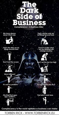The dark side of business - organizational complacency