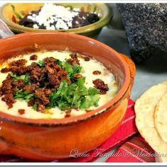 Queso Fundido with Chorizo Recipe   Mexican Food Recipes