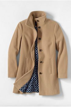 Women s Luxe Wool Parka from Lands  End Womens Parka e113c39b2