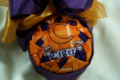 Clemson University Tigers Quilted Ornament - $15.00 - Handmade Holidays, Crafts and Unique Gifts by Family Footprints Designs Christmas and Holiday