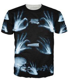 Vintage T-Shirt,Rainbow Wavy Smoke Fashion Personality Customization
