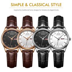 US $32.50 - 2016 Real Direct Selling Burei Women's Quartz Watch Wristwatch With Rose Gold Hands Day And Date Calendar Brown Leather Strap aliexpress.com