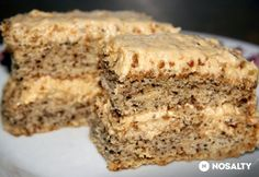Hungarian Desserts, Hungarian Recipes, Poppy Cake, Apple Dessert Recipes, No Bake Cake, Banana Bread, Cake Decorating, Food And Drink, Cooking Recipes