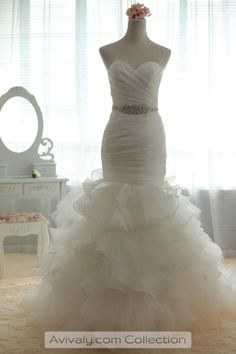 Fit and Flare Wedding Dresses with Bling   ... / Products / Sweetheart Fit & Flare Multi-tiered Skirt Bridal Dress