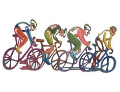 Bicycles The Race Table Sculpture Bicycle Metal Art Sculpture, Contemporary Sculpture, Wall Sculptures, Bicycle Painting, Bicycle Art, Bicycle Design, Cycling Art, Cycling Quotes, Cycling Jerseys