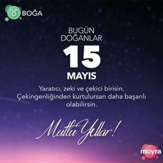 🎂15 Mayıs doğumlu olan tüm Boğa'lara mutlu yıllar! 🎆 #moyra #moyrabilir #askmoyra #astroloji #burclar #burc #bogaburcu #boga #15mayıs