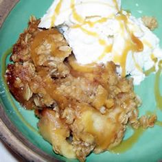 "Best Ever Caramel Apple Crisp | ""Super easy & really yummy! I'm a horrible cook and even I made this one!!"""