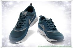 official photos 6be15 5cfd0 meilleures chaussures de running Nike Air Max Thea Print 599407-401B Navy    Argent   Blanc Hommes