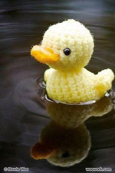 Cute crochet duck.