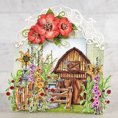 Heartfelt Creations - You Reap What You Sow Reap What You Sow, Red Geraniums, Decorative Borders, Card Making Tutorials, Heartfelt Creations, Pattern Paper, Cardmaking, Floral Wreath