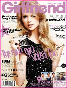 Taylor Swift has earned herself the cover of Girlfriend's June issue, after being voted highest in the magazine's reader poll. Description from itsfashionandthecity.blogspot.com. I searched for this on bing.com/images