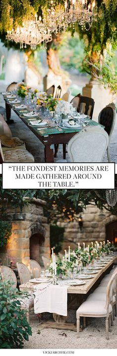 Dining alfresco in Provence - Vicki Archer // http://vickiarcher.com/2015/07/summer-party-in-provence/