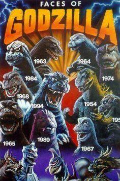 The many faces of Godzilla