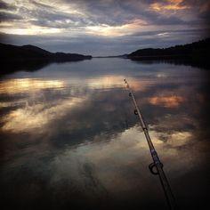 My dear grandchild is fishing this evening.