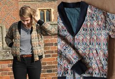 Make This: Liberty print bomber jacket with The New Craft Society