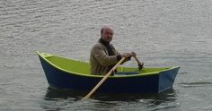 Small Portuguese fishing boat style dinghy, made from one and a half sheets of plywood - at home.
