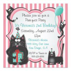 Cat Puss Kitten Birthday Theme