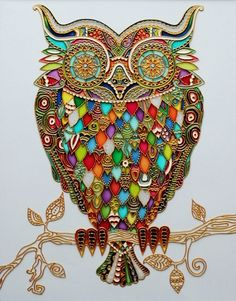 Stained glass owl by Julia Slepchenko