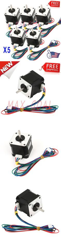 Business Industrial: Us Stock 5X Nema 17 Stepper Motor 1.7 A 0.59 Nm 84 Ozin For 3D Printer And Cnc And -> BUY IT NOW ONLY: $41.95 on eBay!