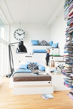Really clever bed and storage combination.  It would be very practical for any age.
