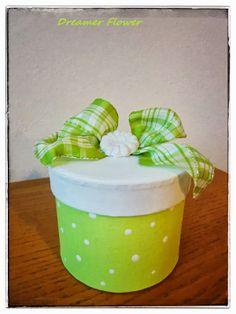 Scatolina Pasqua pois verde, Easter box