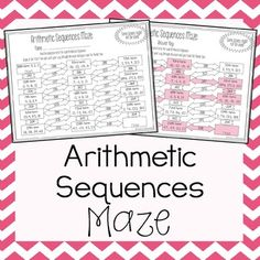 Arithmetic Series And Geometric Series Mazes  Geometric Series