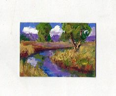 original aceo 2.5 x3.5 oil painting modern impressionist
