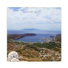 Livadi – Serifos Maple Wood Coaster