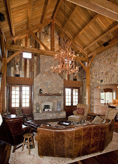 Timber Frame Home & Great Room - Texas Timber Frames by Texas Timber Frames, via Flickr