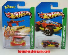 HOT WHEELS LOT OF 2  2013 HW IMAGINATION  ADD THESE TO YOUR COLLECTION  1) 2013 HW IMAGINATION THE FLINTSTONES FLINTMOBILE  2) 2013 HW IMAGINATION SWAMP BUGGY  THESE CARS ARE IN THEIR ORIGINAL PACKAGING AND AS YOU CAN SEE BY THE PHOTOS ARE IN GREAT CONDITION, $7.88