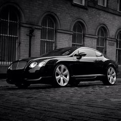 Classy balck, sleek Bentley Continental