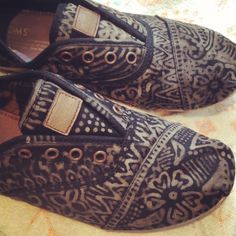 Toms. Hand- Decorated.. Love because they don't look like toms
