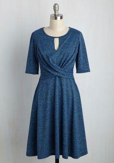 Grant You One Twist A-Line Dress, @ModCloth
