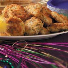 Mardi Gras Appetizers Recipes from Taste of Home, including Seafood Cakes
