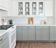 New kitchen remodel on a budget ikea spaces 45 ideas Kitchen Cabinet Colors, White Kitchen Cabinets, Painting Kitchen Cabinets, Kitchen Paint, Kitchen Redo, Kitchen Colors, Kitchen Backsplash, White Appliances In Kitchen, Kitchen White