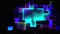 Vimeo Awards Show by seeper. The Vimeo Awards Show provided seeper with the opportunity to bring projection mapping indoors, and the result was a stunning display of motion graphics projected onto a 25 meter high stage.
